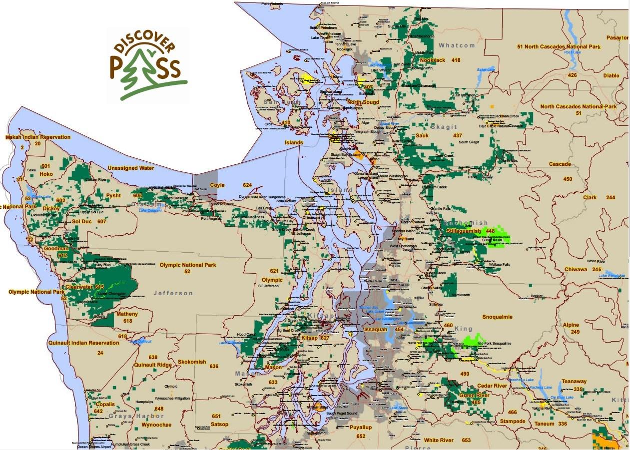 Discover WA Northwest Area Map
