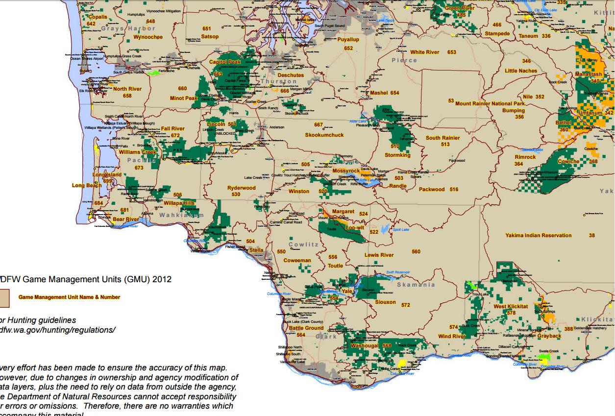 Discover WA Southwest Area Map