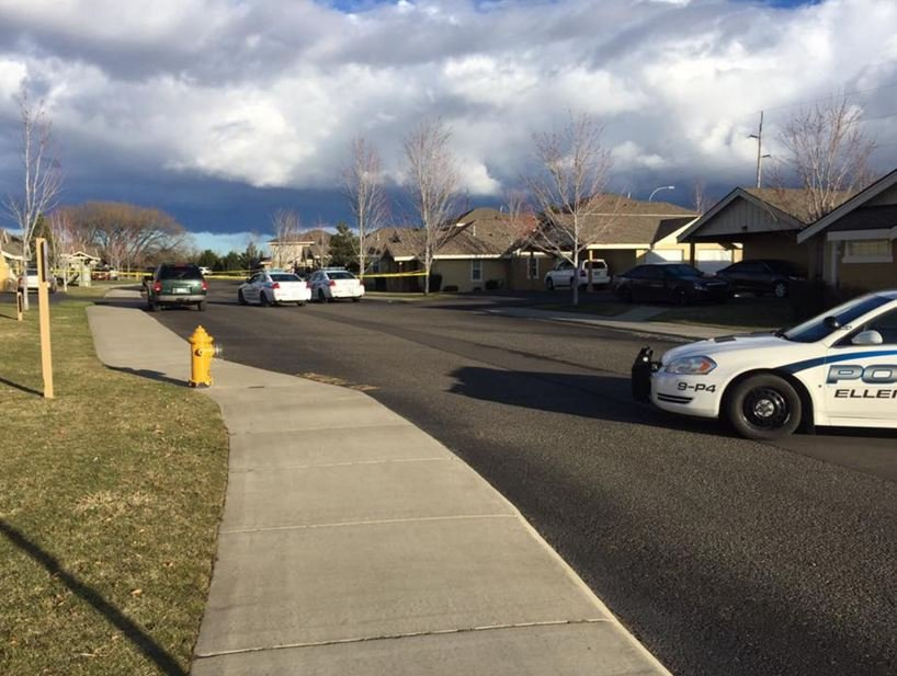 Ellensburg police man for drive-by shooting Sunday afternoon.