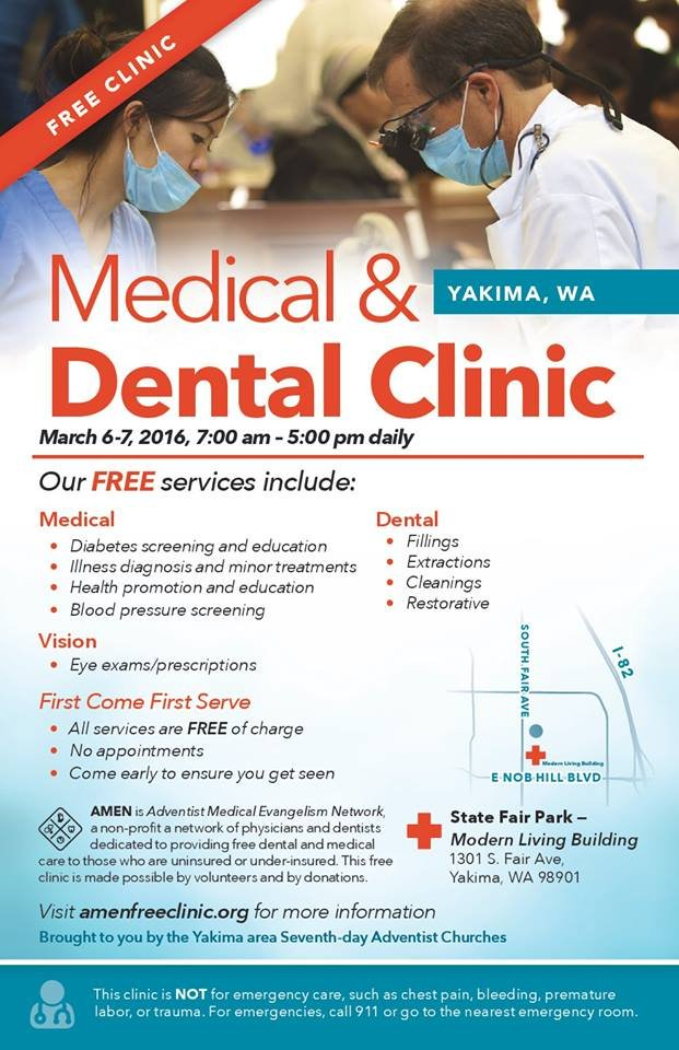 Flyer for free clinic