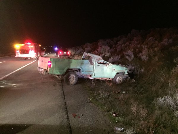 Benton City man injured in crash along I-82