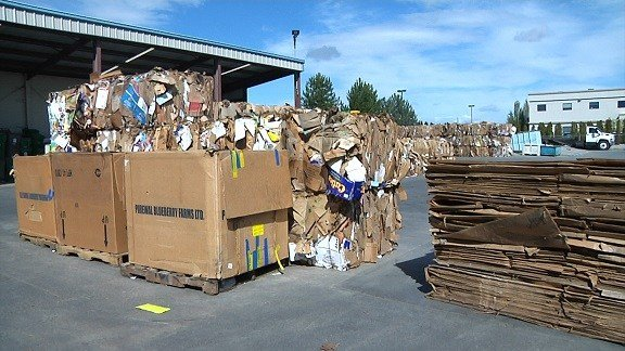 Recycled material is collected at Clayton Ward in Richland.