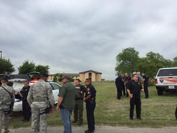 Scene at Lackland AFB (courtesy: Bexar Co. Sheriff)