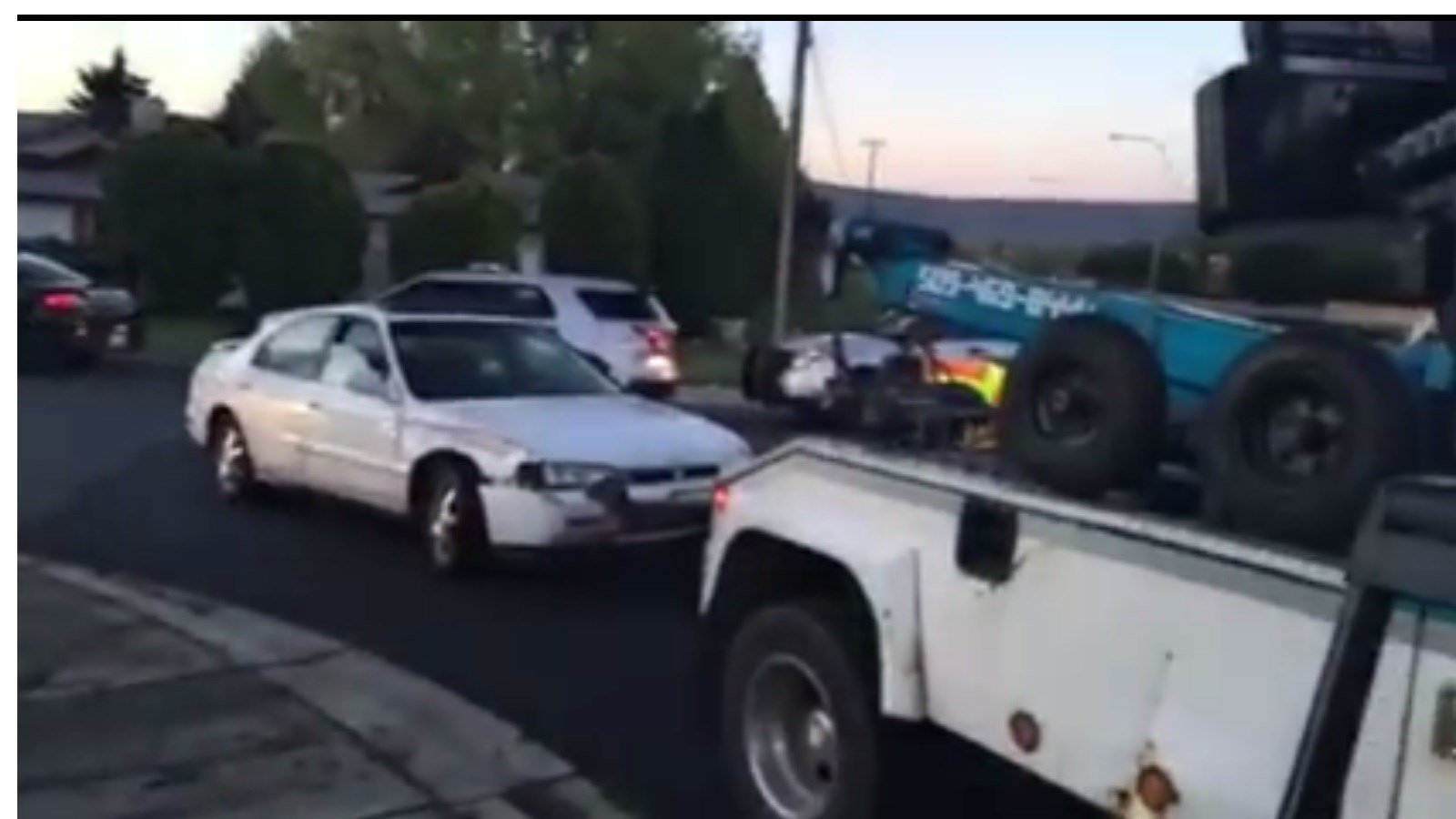 Car involved in high-speed chase being towed
