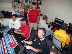 Jeff Bernard, J. Michael Kelly and Greg Hopp race on-line  [ PHOTO - Chris Denslow, HARM ]
