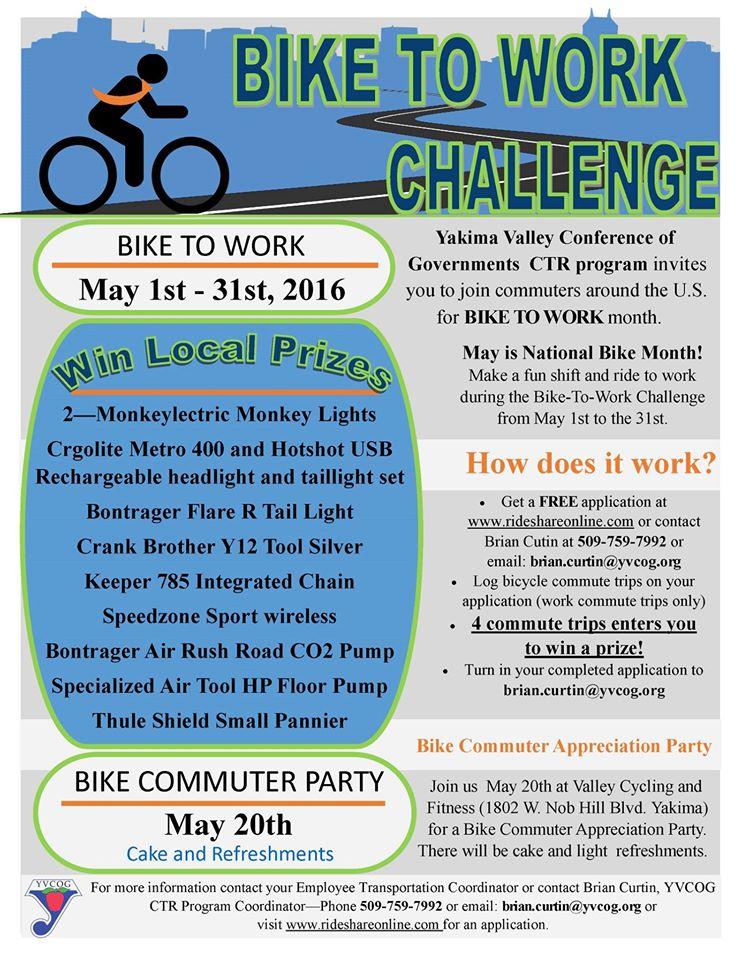YVCOG Bike To Work Challenge Flyer