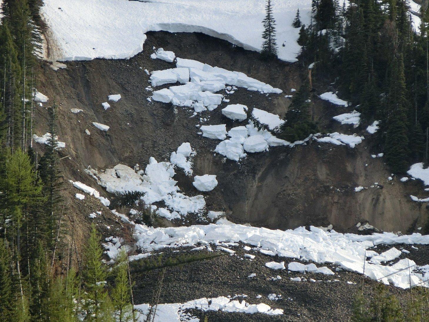 Landslide at Mission Ridge