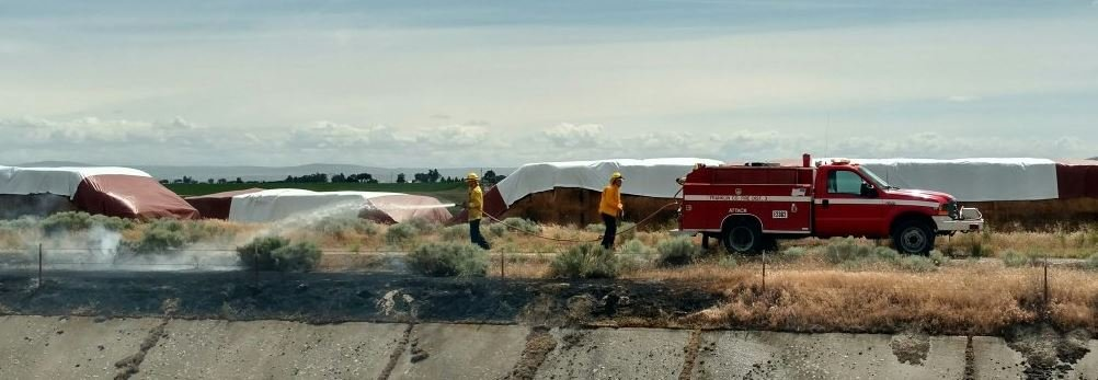 Overnight, crews also posted about a haystack fire on Crest Loch around 2 a.m. Sunday. There is no word on what caused that fire.