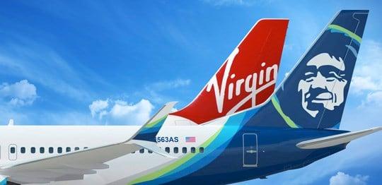 Alaska Airlines & Virgin America logos