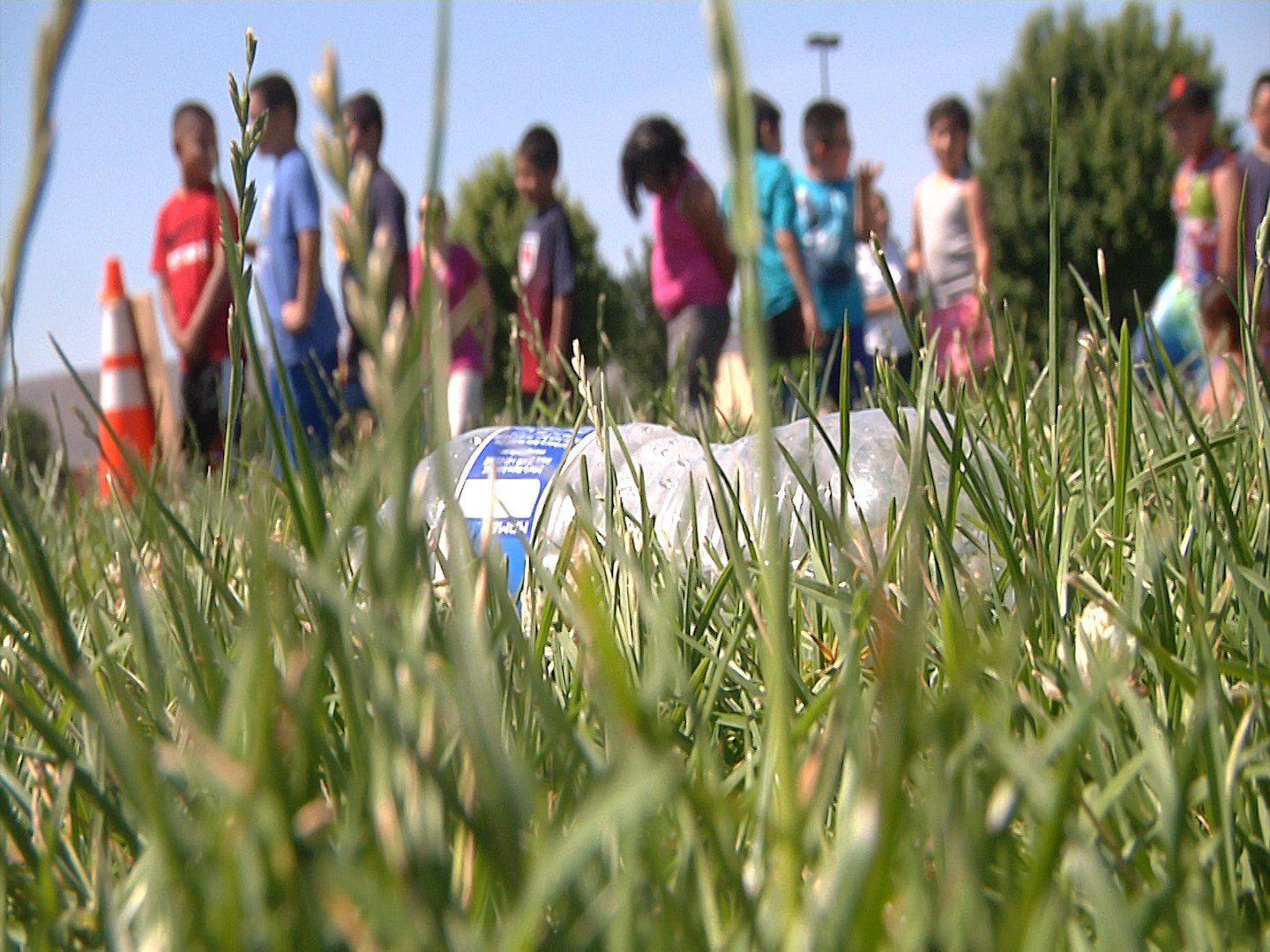 Martin Luther King elementary school incorporates water into their annual Field Day in order to beat the heat