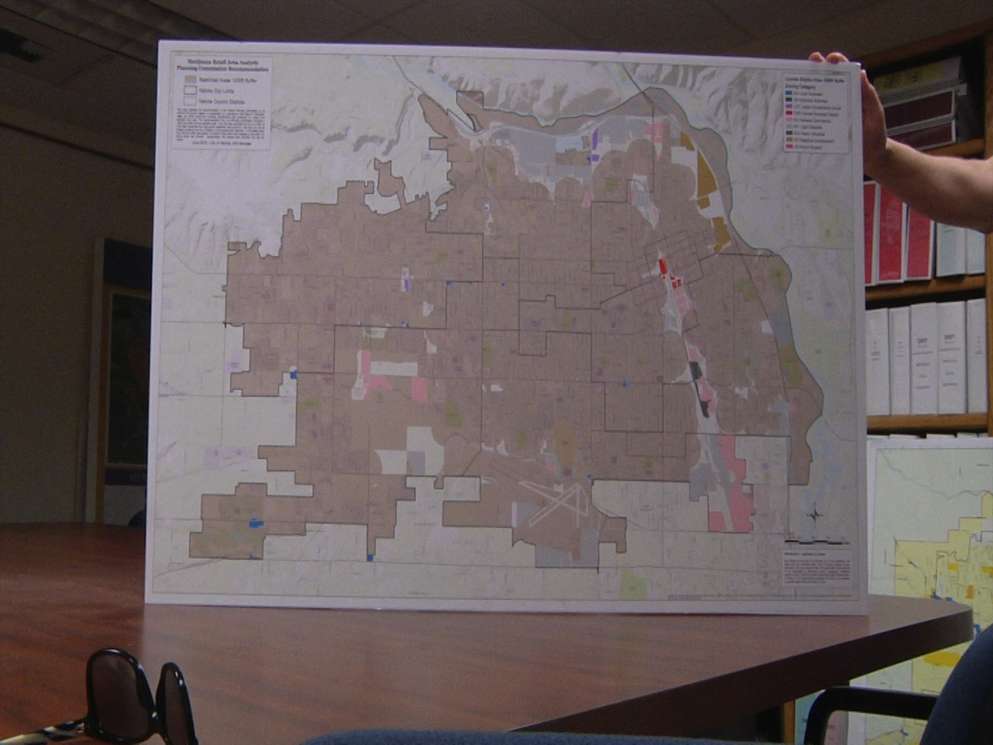 Here is a map depicting the 1000 foot buffer recommendation.