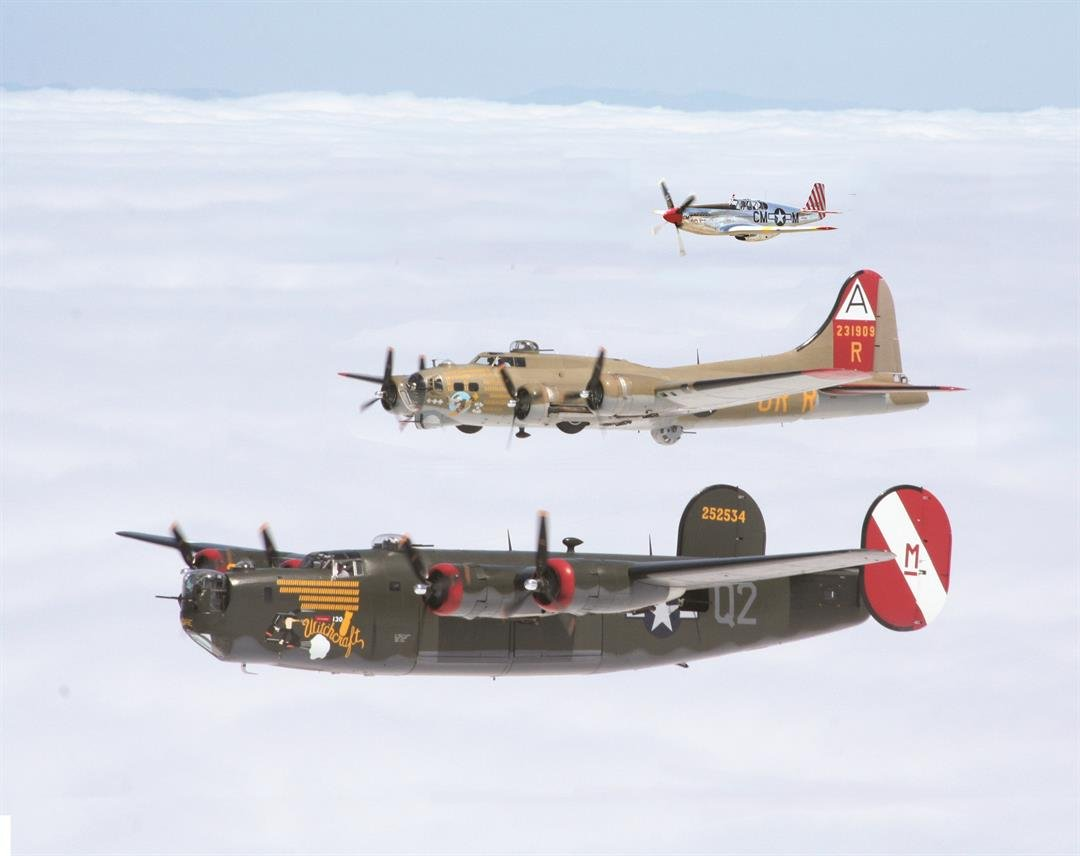3 of the 4 airplanes featured on Wings of Freedom Tour