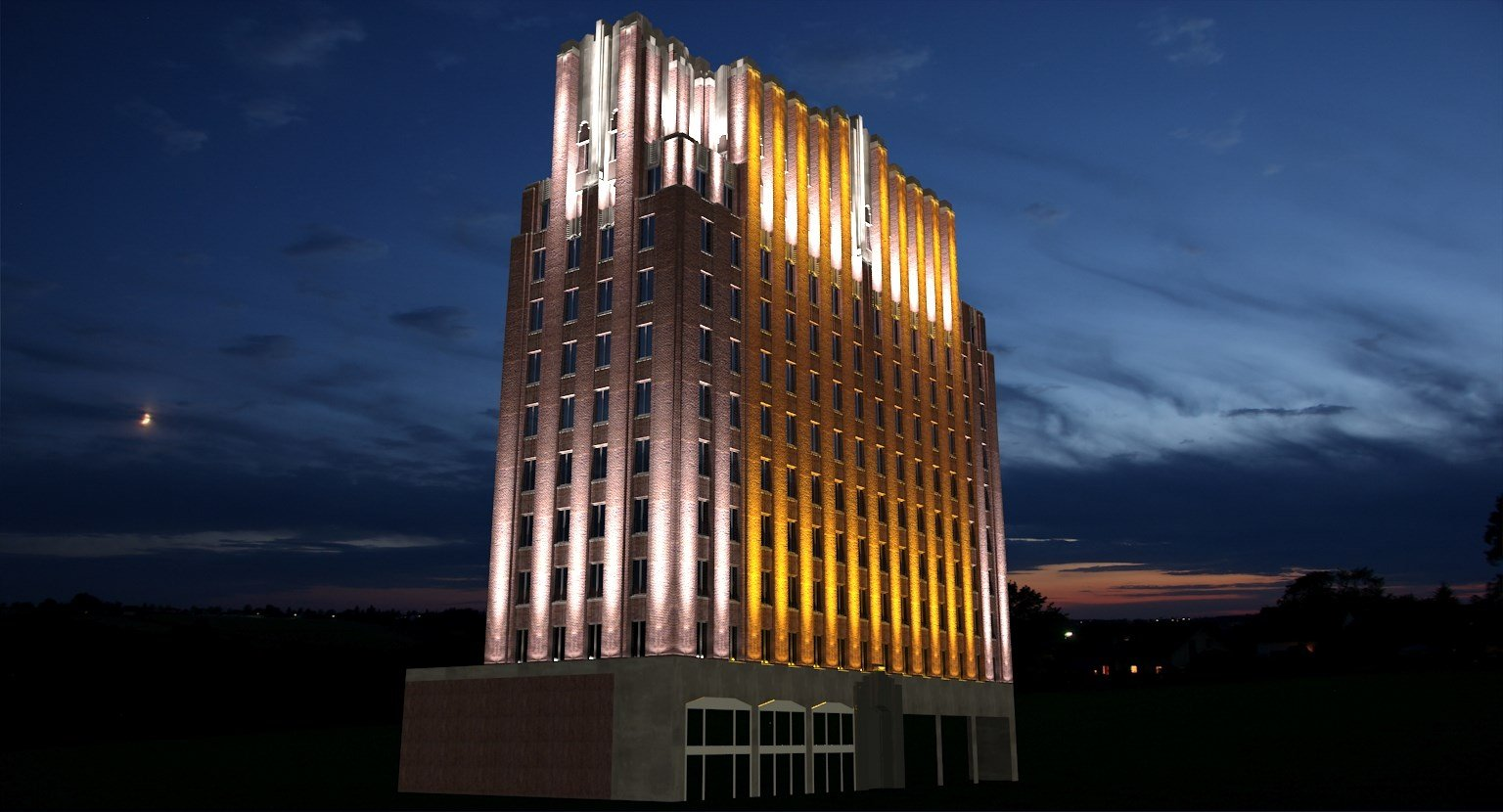 Artist Rendering of A.E. Larson Building Lights