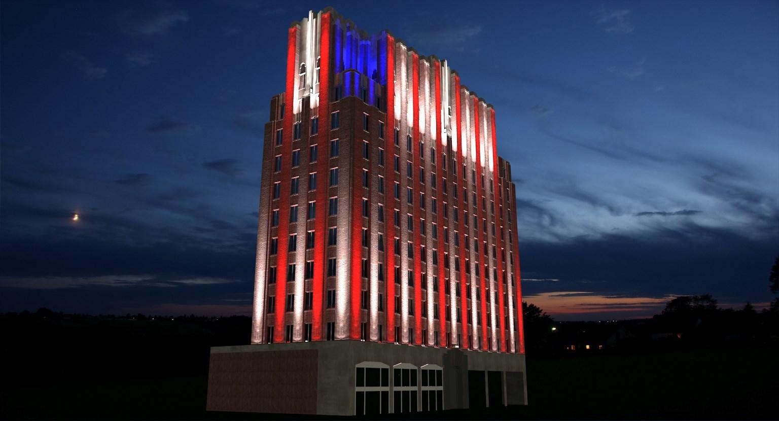 Artist Rendering of A.E. Larson Building Lights