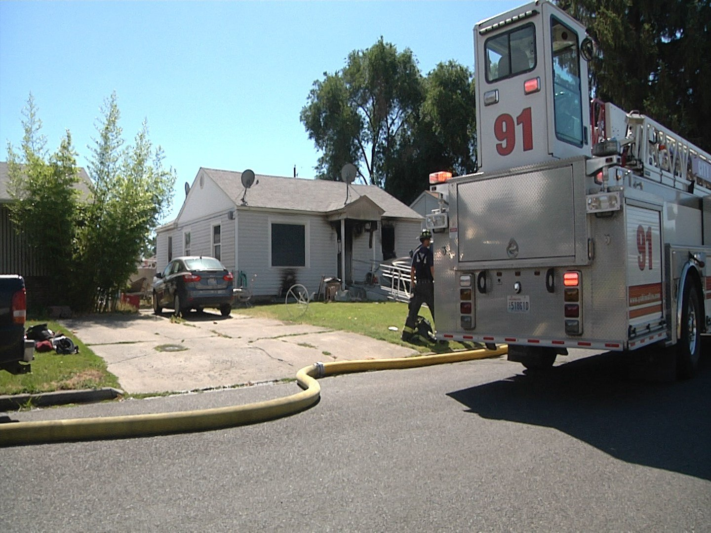 This is the second time this house has caught on fire in the past two years.