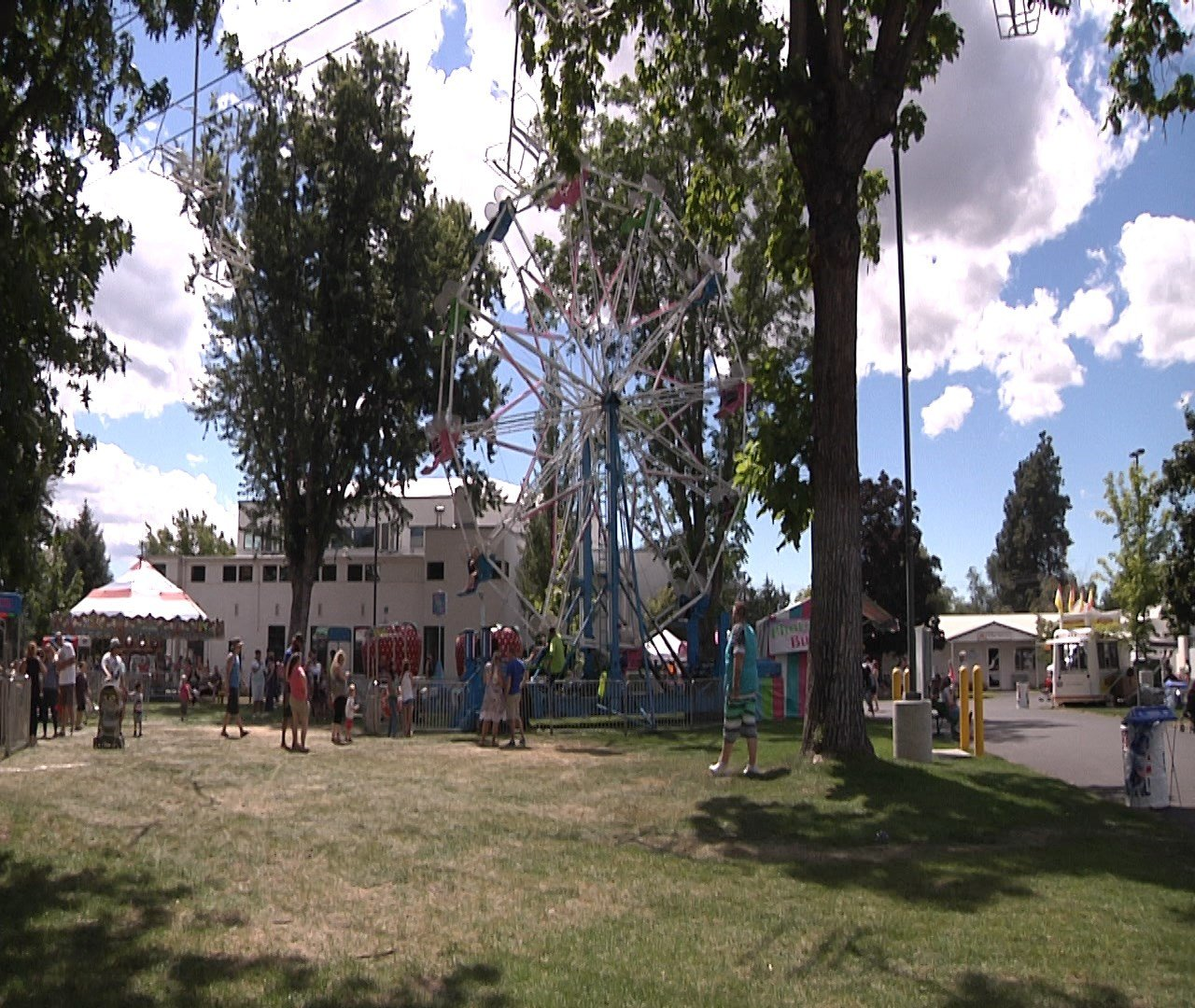 There are thousands of people enjoying the free fun at Yakima's State Fair Park located on Fair Avenue