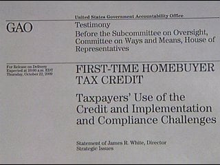 Possible Home Buyer Tax Credit Fraud As Congress