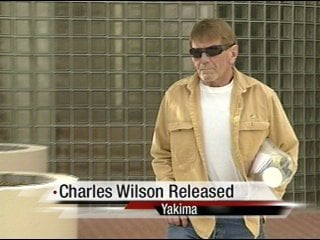 Wilson walking out of Yakima County Jail