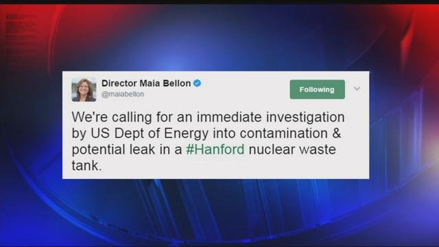 Possible leak found at Washington nuclear site