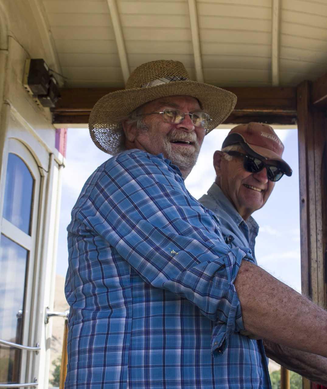 Trolley volunteers Russ Wentworth and Ed Neel