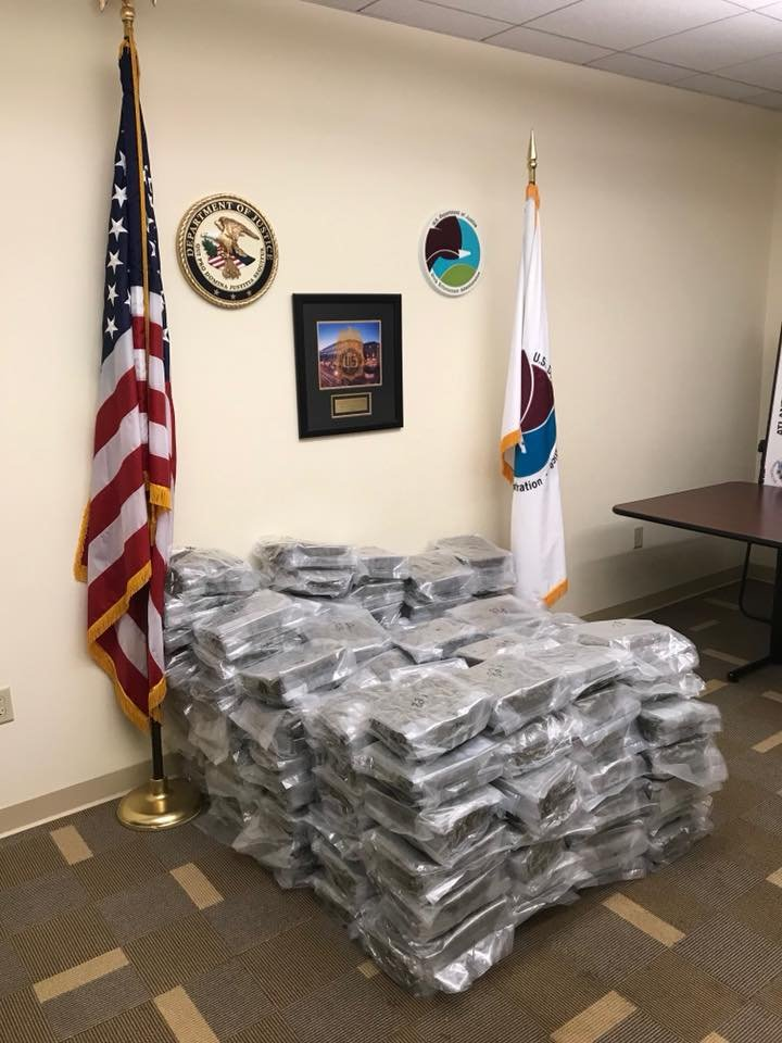 Police in Charlotte say the marijuana in Bryan Watts's car is about $788,000.000 worth. Officers also seized the pickup he was driving as evidence.