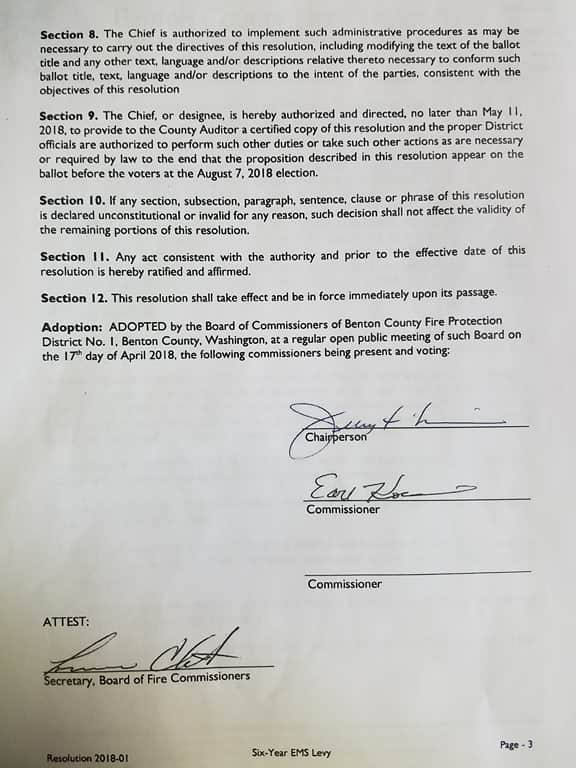 Page 3 of the levy resolution