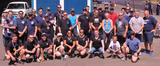 Group picture of law and fire teams