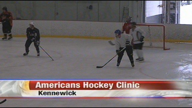 An adult amateur group played hockey with Tri-City Americans Saturday.