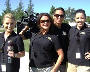 Meredith Boggs, Lisa Loevsky, Aaron Hilf, and Breanna Gilroy at the Tri-City Waterfollies