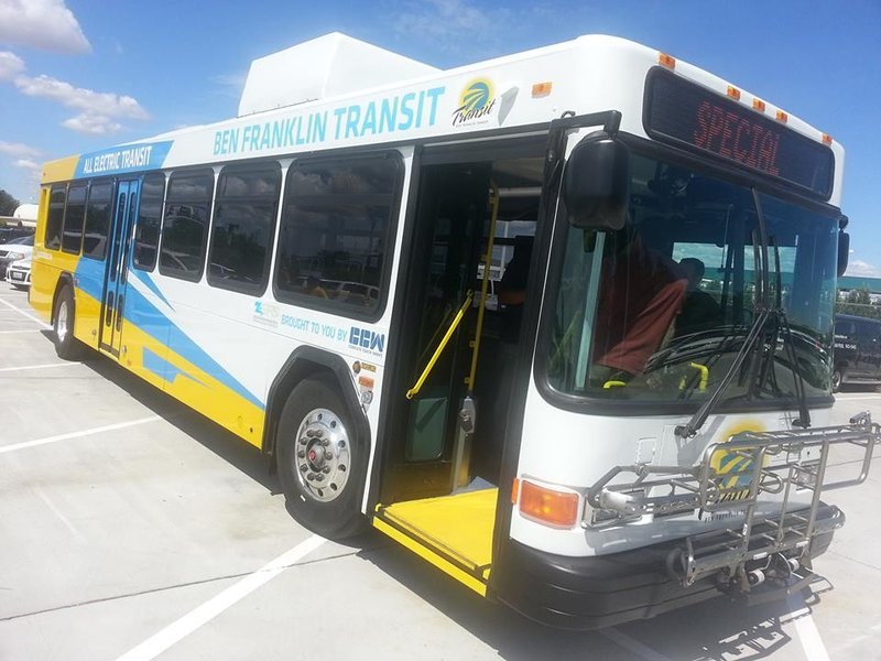 Ben franklin transit unveils new all electric bus in for Betterall motors yakima wa