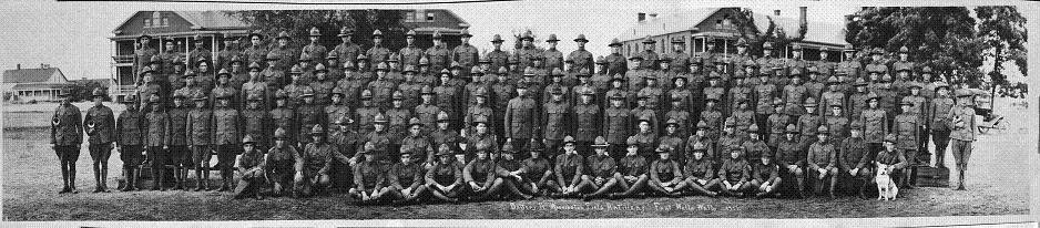 Battery A 146th Field Artillery -- Ft. Walla Walla -- 1917