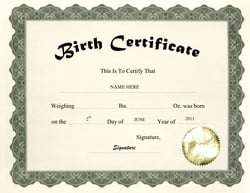 Law to let adopted washington adults access birth for Real birth certificate template