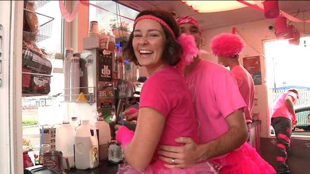 Rocking the Pink at Dutch Bros.