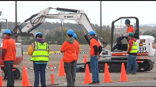 Tri-Cities Construction Career Day gave 500 students some hands on construction experience at the Benton County Fair Grounds.