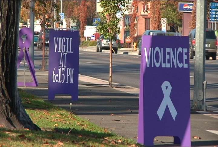 Victims and survivors of domestic violence were remembered Thursday night at a candlelight vigil.