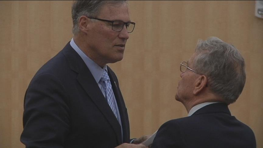 "Governor Jay Inslee was the keynote speaker Tuesday at Central Washington University's annual ""Economic Outlook Conference."""