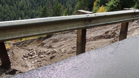 Washout on Highway 12