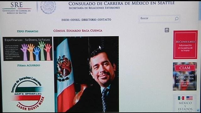 Consulate Eduardo Baca from Mexico