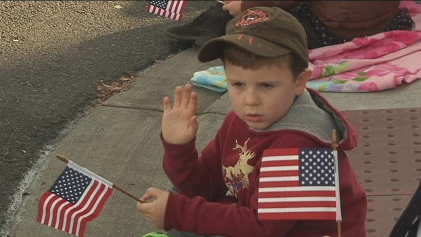 The community came downtown to show their support for our nation's Veterans Monday.