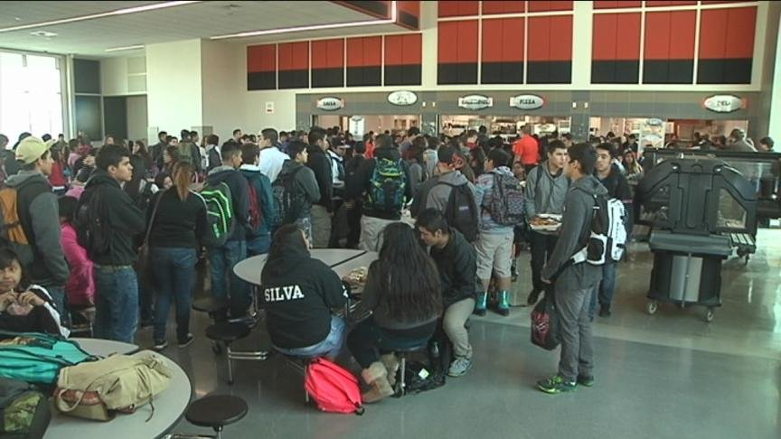 NBC Right Now was there as Davis High School students took their first steps into the brand new commons area Wednesday.