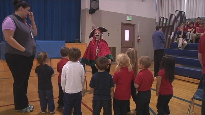The 5th grade class at Saint Paul Cathedral School in Yakima re-lived history Thursday.