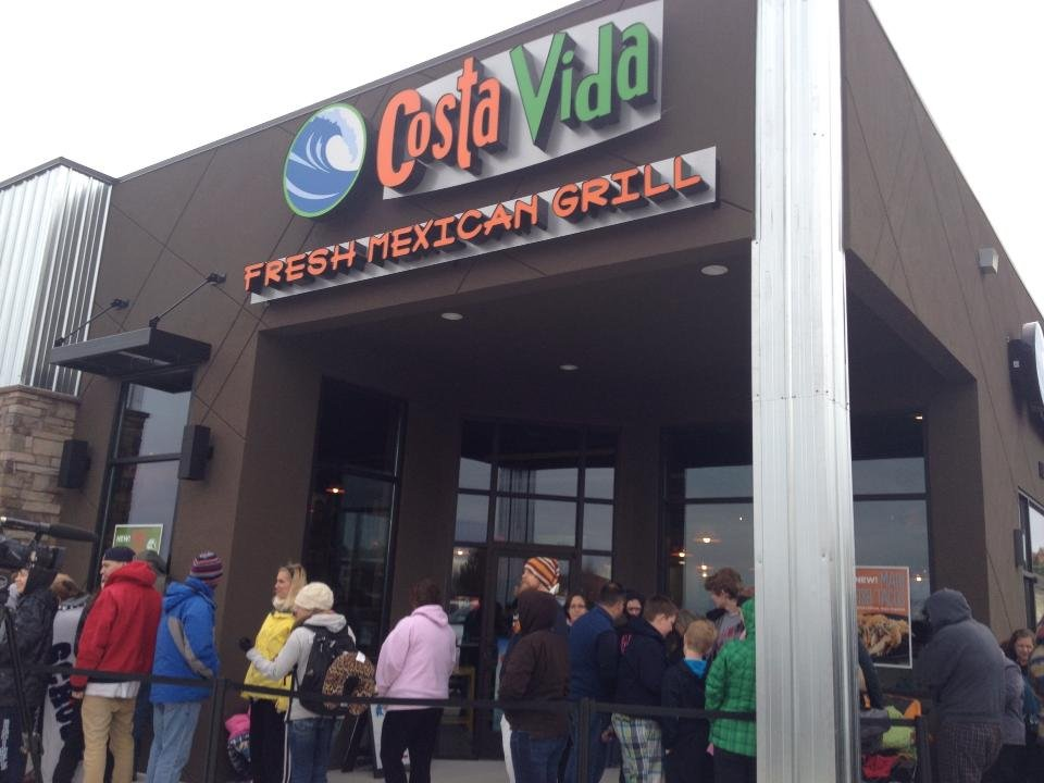 More than 75 people woke up Monday morning outside Costa Vida Fresh Mexican Grill all for a chance at free meals for a year.