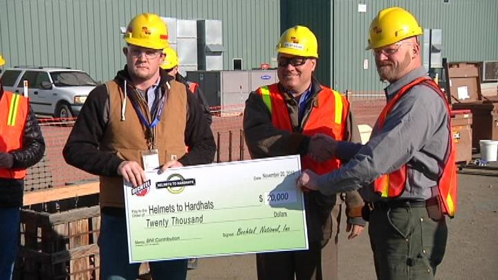 Hanford contractor Bechtel gave Washington State Building and Construction Trades Council  $20,000 dollars for it's Helmets to Hardhats program