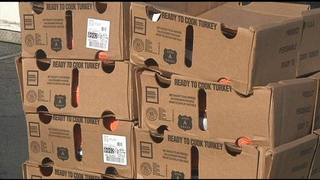 The Yakima Basin Chapter of the National Wild Turkey Federation delivered about 65 frozen turkeys to Northwest Harvest on Wednesday.