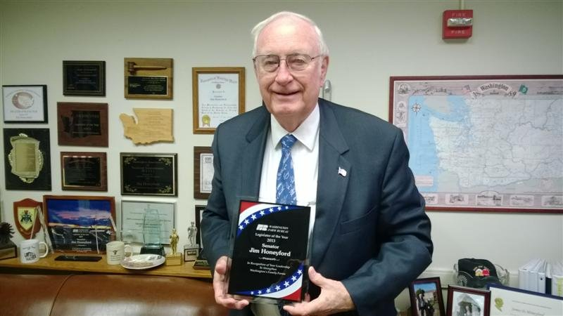 State Sen. Jim Honeyford from Sunnyside has been named the 2013 Legislator of the Year by the Washington State Farm Bureau.