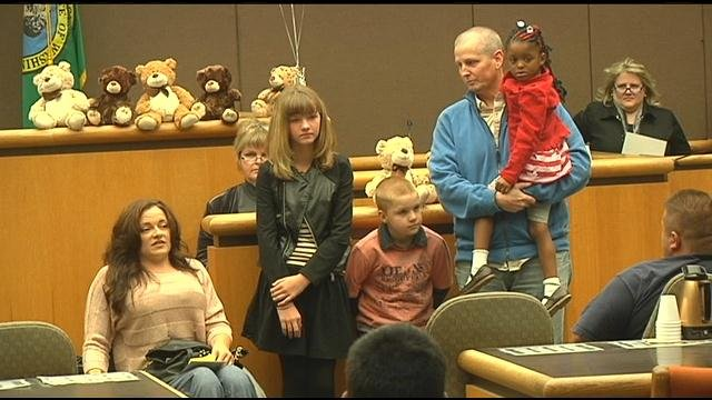 It takes a lot of people to find forever homes for foster children and on Friday, all of those people were celebrated at the Benton County Justice Center.