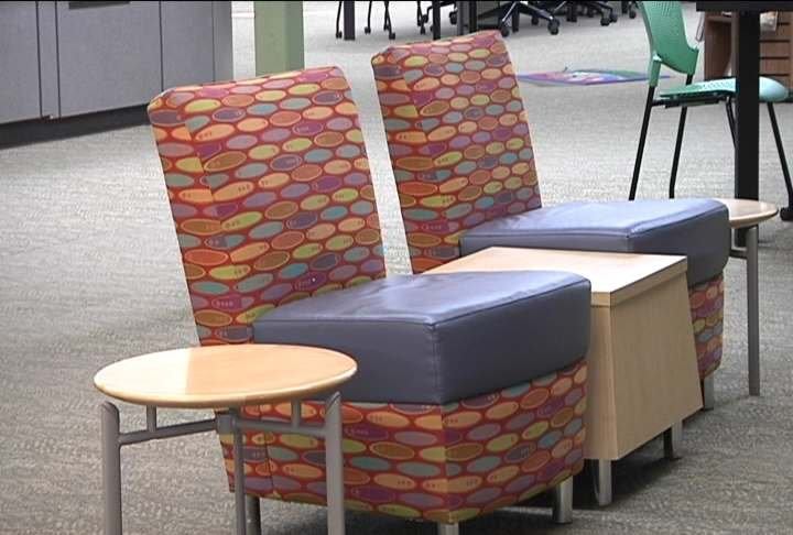 The Sixties-era furniture at the downtown Pasco library will be replaced during a holiday remodel.