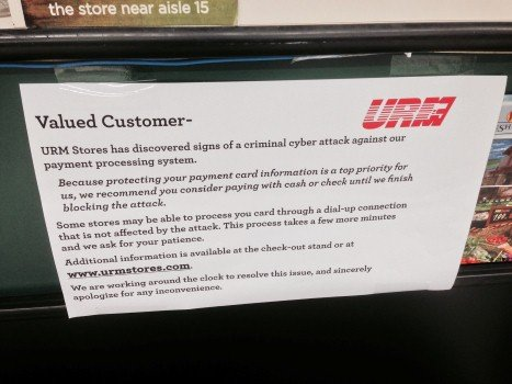 Hundreds of debit and credit cards have been compromised in the last few weeks and today some URM stores shut down their credit and debit machines, to help keep your money safe.