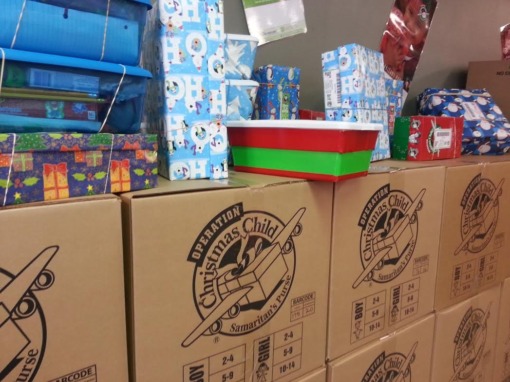 Needy children in over 130 countries will be receiving Christmas presents this year thanks to some local volunteers.