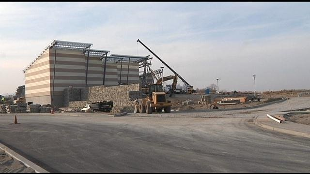 After more than a decade of set backs for the Hanford Reach Interpretive Center, you can now see some real progress for the project as all of the walls for the new building are now up.